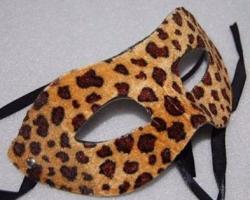 Mascara Feminina Carnaval Festa Leopardo Oncinha Aveludada