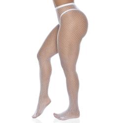 Meia Calça Arrastão Branco Perrutextil