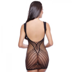 CAMISOLA BODY STOCKING ARRASTÃO DECOTE