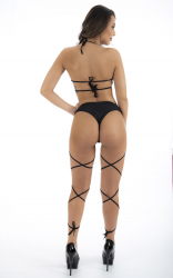 MINI FANTASIA POLE DANCE PRETO PIMENTA SEXY 7239
