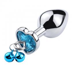 Plug de Coração em Aço Com Sino - Tamanho P - COD. 6363