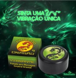 POMADA FOGO DO DRAGÃO VIBRANTE EXCITANTE UNISSEX VIBRADOR LÍQUIDO 7G SOFISTICATTO