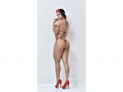 Mini Fantasia Bombeira Body  MF701- Le Rouge